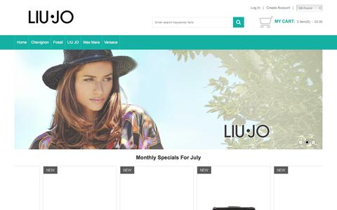 Screenshot of Home Page bazaar-bonzo.com - Liu Jo Clothing Authentic Online - Special Offers & Promotions Here Outlet - captured July 24, 2017