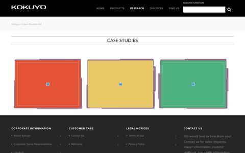 Screenshot of Case Studies Page kokuyo-furniture.com - Case Studies-old |  Kokuyo - captured Nov. 27, 2016