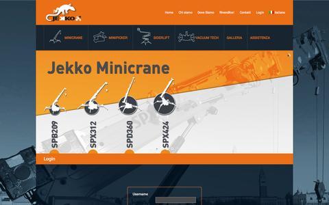 Screenshot of Login Page jekko.it - Login - Jekko - captured Oct. 6, 2014