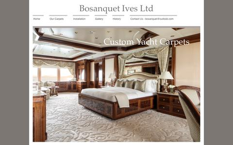 Screenshot of Site Map Page bosanquetives.com - Superyacht Carpet - Boat & Marine Carpets Supply and Installation - captured Oct. 10, 2017