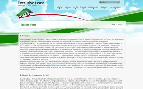 Screenshot of Privacy Page executivelease.it - Privacy | Executive Lease - captured Sept. 30, 2014