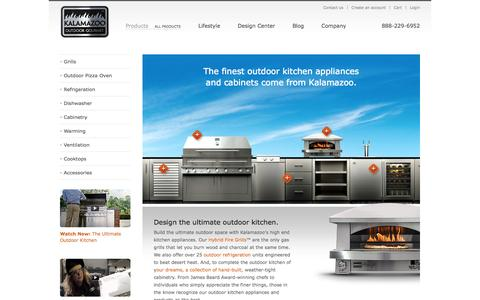 Screenshot of Products Page kalamazoogourmet.com - Outdoor Kitchen Appliances: High-End Kitchen Appliances | Kalamazoo Outdoor Gourmet | Kalamazoo Outdoor Gourmet - captured Sept. 22, 2014