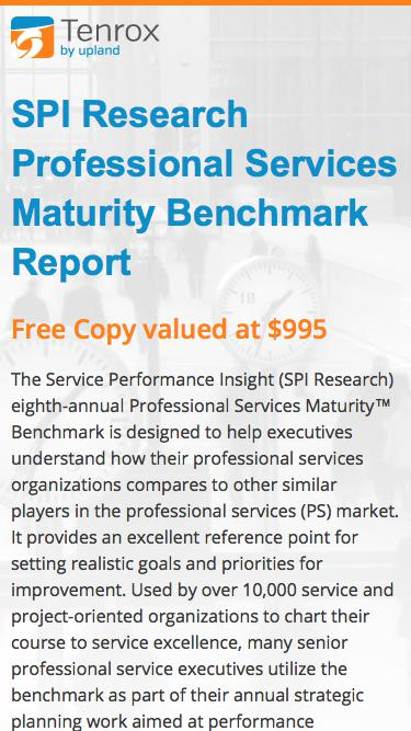Tenrox: SPI Research Professional Services Maturity Benchmark Report