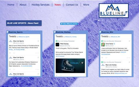 Screenshot of Press Page blueline-sports.com - Blue Line Sports Management, LLC - Hockey Agency & Family Advisors | News - captured Nov. 22, 2016