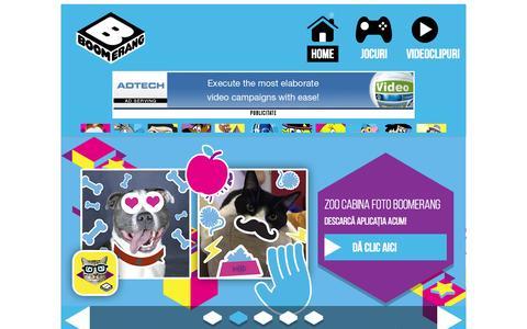 Screenshot of Home Page boomerang-tv.ro - Boomerang | Desene animate, spectacole, jocuri şi imagini video - captured Nov. 12, 2015
