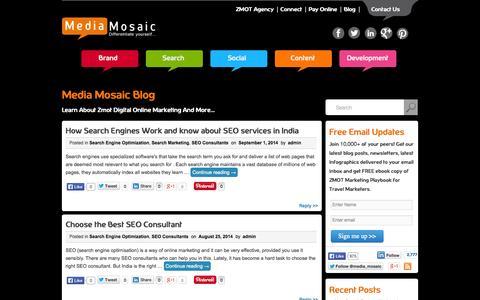 Screenshot of Blog media-mosaic.com - Digital Search & Social Media Marketing News   Infographics    ZMOT Agency   Media-Mosaic   BLOG - captured Oct. 27, 2014