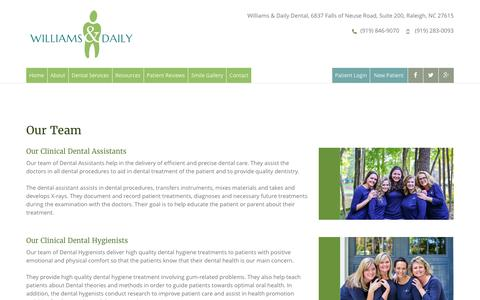 Screenshot of Team Page williamsanddaily.com - Raleigh Dentist   Williams & Daily Dentistry North Raleigh - captured April 22, 2017