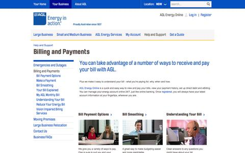 AGL - Billing and Payments