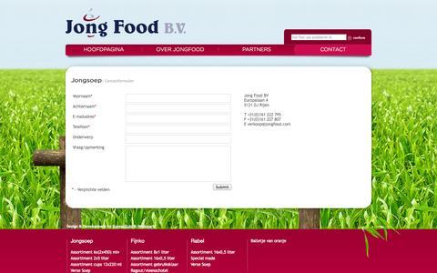 Screenshot of Contact Page jongfood.nl - Partners - captured Oct. 6, 2014