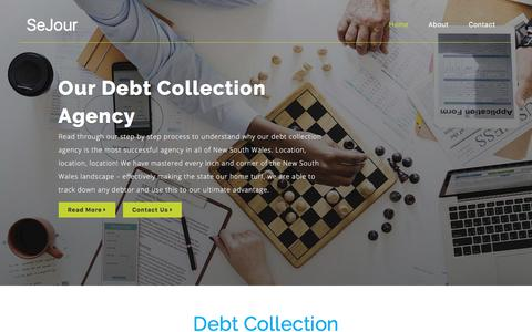 Screenshot of Home Page sejour.com.au - Debt Collection Agency | SeJour - captured July 25, 2018