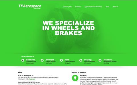 Screenshot of Home Page tpaerospace.com - Homepage - captured Sept. 30, 2014