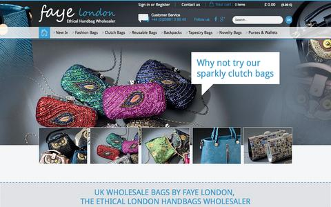Screenshot of Home Page fayeuk.com - UK Wholesale Bags by Faye London, UK Handbag Wholesale - captured Jan. 23, 2015