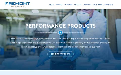 Screenshot of Products Page fremontind.com - Products – Fremont - captured Feb. 10, 2016