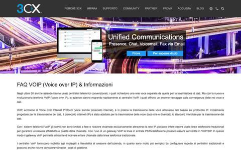 Screenshot of FAQ Page 3cx.it - FAQ VOIP (Voice over IP) & Informazioni - captured Oct. 21, 2018