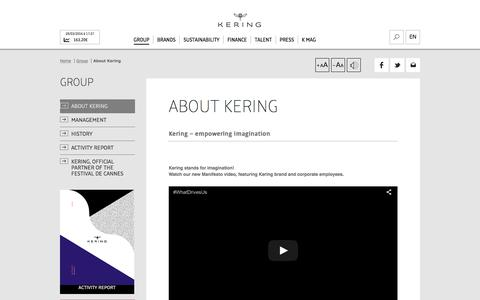 About Kering | Kering