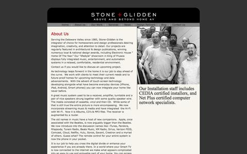 Screenshot of About Page stoneglidden.com - Stone + Glidden/About US - captured Oct. 7, 2014