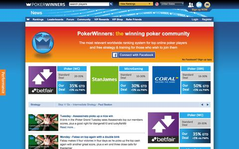 Screenshot of Press Page pokerwinners.com - Latest News and Features | PokerWinners - captured Nov. 26, 2015