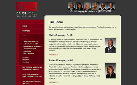 Screenshot of Team Page ampreyandassociates.com - Our Team   Educational Consultants for Business & School Districts - Amprey & Associates - captured Oct. 4, 2014