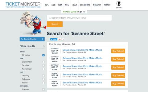 Search for 'Sesame Street'