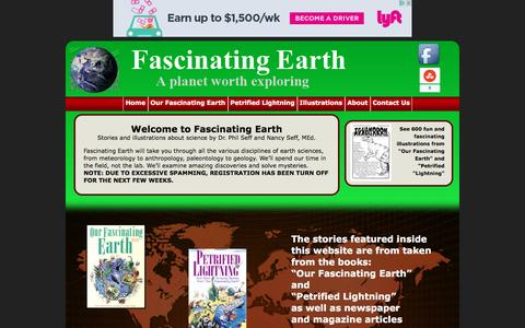 Screenshot of Home Page fascinatingearth.com - Our Fascinating Earth | - captured May 14, 2016