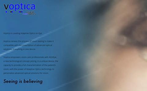 Screenshot of About Page Contact Page voptica.com - Voptica - Visual Smart Optics - captured Oct. 26, 2014