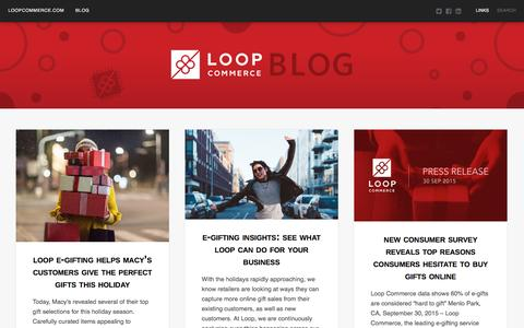 Screenshot of Blog loopcommerce.com - Loop Commerce | blog.loopcommerce.com - captured Dec. 2, 2015