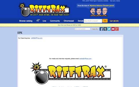 Screenshot of Press Page rifftrax.com - EPK | RiffTrax - captured Sept. 17, 2014