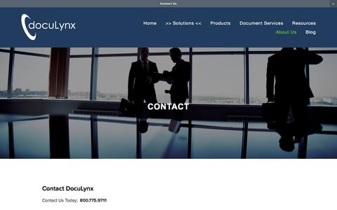Screenshot of Locations Page doculynx.com - Contact — DocuLynx - captured May 9, 2017