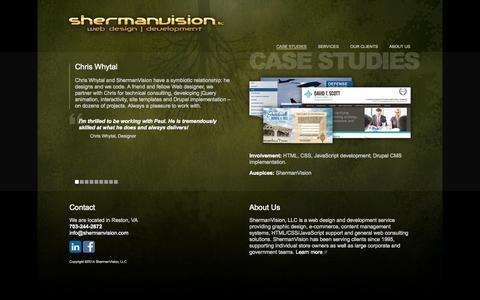 Screenshot of Case Studies Page shermanvision.com - ShermanVision, LLC Web Design Development Service - captured Oct. 26, 2014