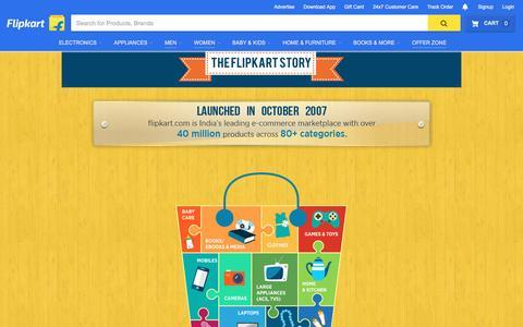 Screenshot of About Page flipkart.com - Flipkart.com - captured Aug. 2, 2016