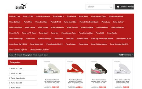 Screenshot of Home Page pencilworks-delphi.com - Puma Shoes Online Store: Discount on all sports shoes - captured Oct. 28, 2018