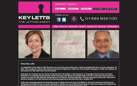 Screenshot of About Page keyletts.com - Experienced letting agents in High Wycombe, Buckinghamshire - Key Letts | Key Letts - captured Oct. 6, 2014