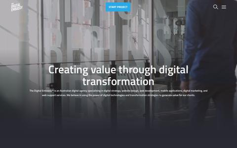 Screenshot of Home Page thedigitalembassy.co - The Digital Embassy   Web Design & Digital Agency - captured April 16, 2019