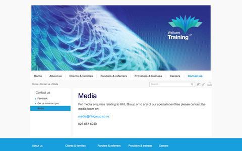 Screenshot of Press Page hhlgroup.co.nz - Media - captured Jan. 23, 2016