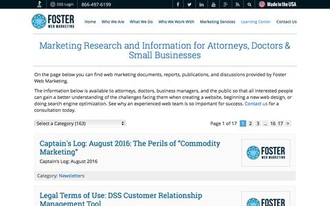 Marketing Articles for Attorneys, Doctors & Small Businesses | Foster Web Marketing