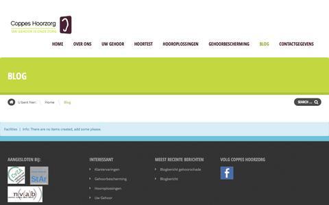 Screenshot of Blog coppeshoorzorg.nl - Blog   Coppes Hoorzorg - captured May 22, 2017