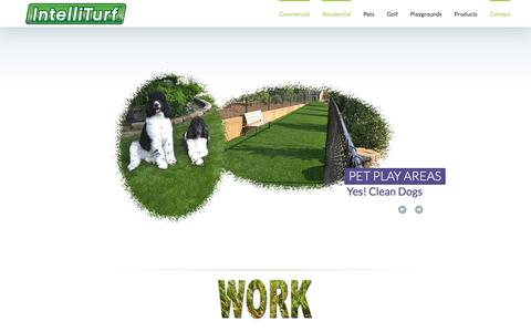 Screenshot of Home Page intelliturf.com - IntelliTurf Synthetic Grass Lawns - IntelliTurf - captured Feb. 11, 2016