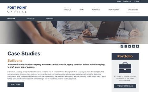 Screenshot of Case Studies Page fortpointcapital.com - Case Studies | Fort Point Capital - captured Dec. 10, 2018