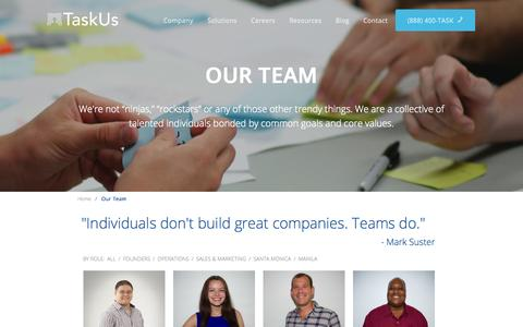Screenshot of Team Page taskus.com - TaskUs | Our Team - captured Dec. 17, 2014