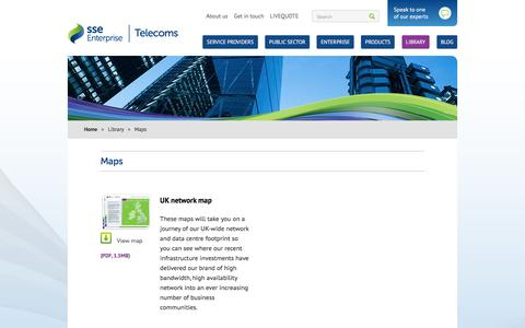 Screenshot of Maps & Directions Page ssetelecoms.com - Maps - captured Dec. 15, 2015