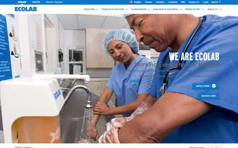 Screenshot of Jobs Page ecolab.com - Careers | Ecolab - captured Nov. 7, 2015
