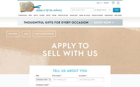 Screenshot of Signup Page notonthehighstreet.com - Unique Gift Ideas and Personalised Gifts | notonthehighstreet.com - captured Oct. 2, 2017