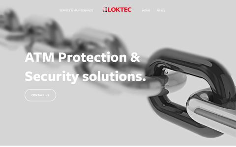 Screenshot of Home Page loktec.co.uk - LOKTEC- Loktec Security Group ATM PROTECTION. ATM SECURITY. SAFES. STRONGROOMS.LOCKSMITHS. ACCESS CONTROL - captured Oct. 11, 2018