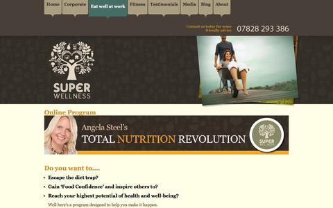 Screenshot of Trial Page superwellness.co.uk - Online weight loss program - captured Nov. 5, 2014