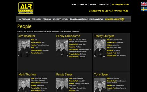 Screenshot of Team Page alrpcbs.co.uk - People at ALR Services Ltd | Quality Service | Excellent Prices - captured Oct. 4, 2014