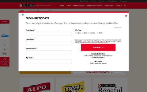 Screenshot of Products Page purina.com - Dog Food and Treats - Purina® - captured Aug. 28, 2016