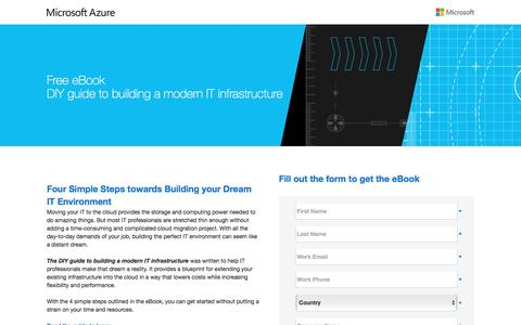 Screenshot of Landing Page microsoft.com - DIY guide to building a modern IT infrastructure - captured Sept. 26, 2016