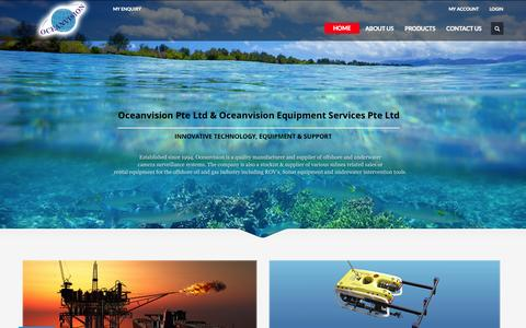 Screenshot of Home Page oceanvision.com.sg - Quality Manufacturer and Supplier of offshore and underwater  CCTV Camera | CCTV Company in Singapore - captured Jan. 26, 2015