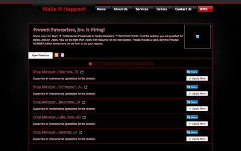 Screenshot of Jobs Page bandpent.com - Jobs - captured Sept. 28, 2016