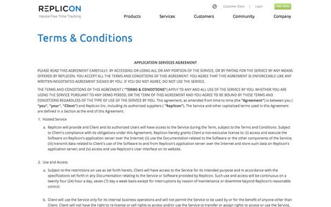 Screenshot of Terms Page replicon.com - license-agreement | Replicon - captured Oct. 10, 2014